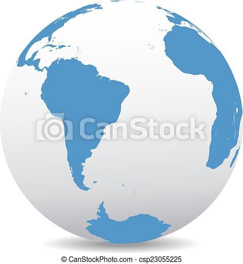 amerika, afrika, déli - csp23055225