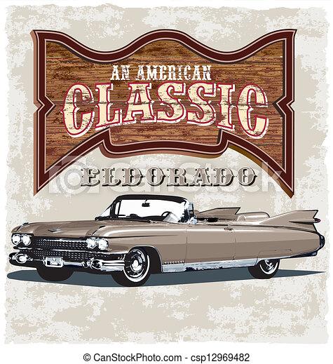amerikaan, eldorado, classieke - csp12969482