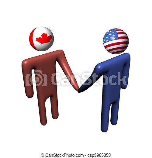 amerikaan, vergadering, canadees - csp3965353