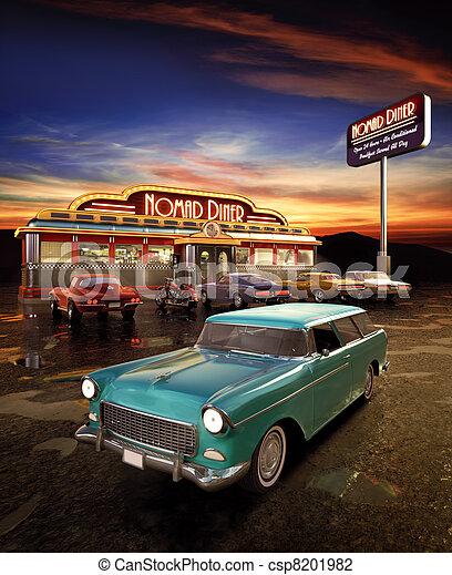 amerikaanse diner - csp8201982