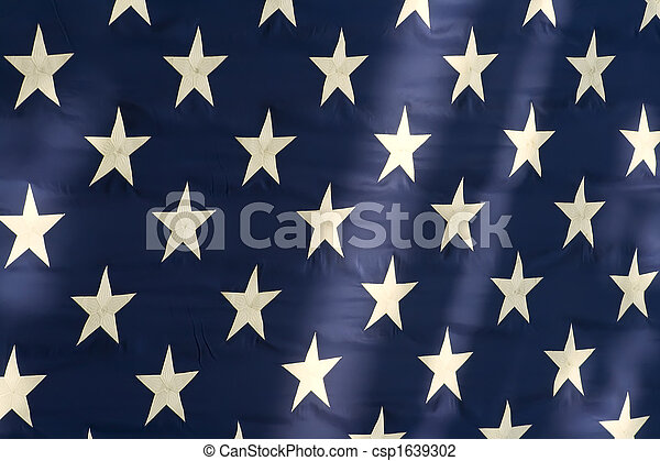 amerikaanse vlag, sterretjes - csp1639302
