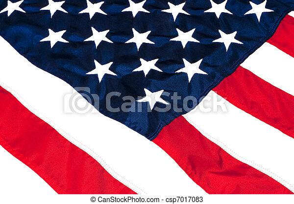 amerikai, closeup, lobogó - csp7017083
