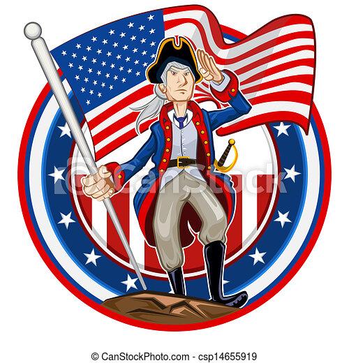 amerikai, embléma, patrióta - csp14655919