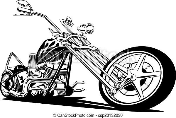 amerikai, motorkerékpár, húsbárd, szokás - csp28132030