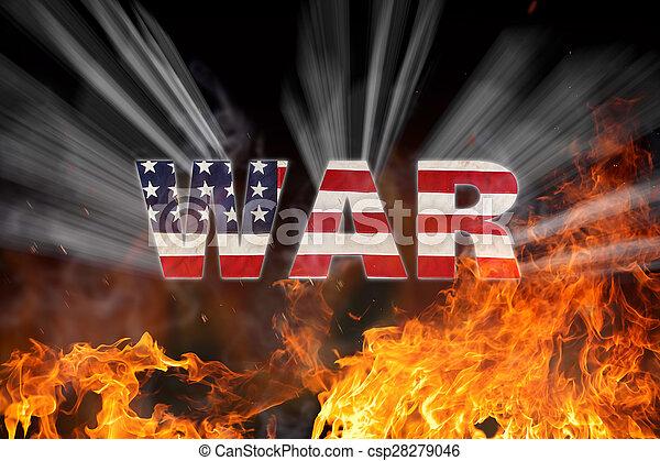 amerikan, begrepp, grunge, flagga, krig - csp28279046