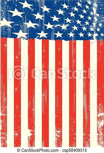 amerikan flagga, smutsa ner - csp58409315