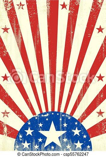 amerikan, grunge, stjärnor, bakgrund - csp55762247