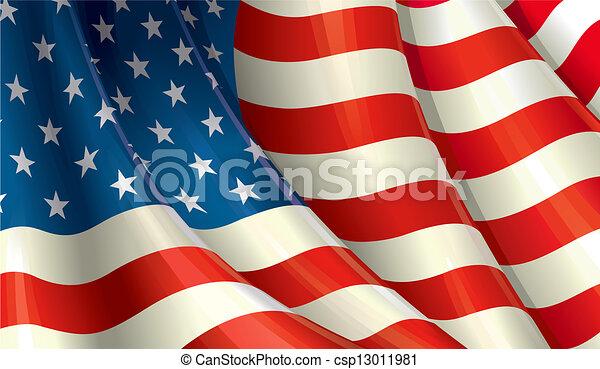 amerikaner flag - csp13011981