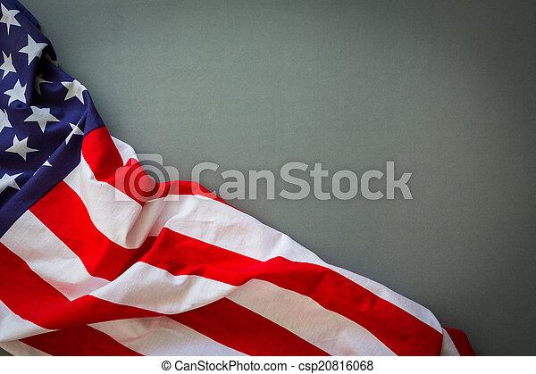 amerikaner flag - csp20816068