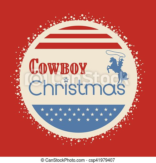 Amerikanische Weihnachtskarten.Amerikanische Cowboy Weihnachtskarte Gruß