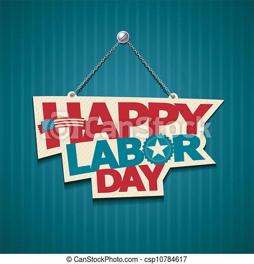 amerikanische , glücklich, tag, arbeit - csp10784617