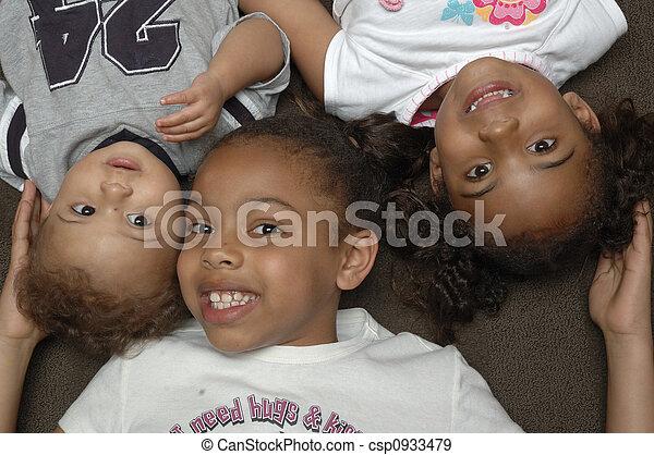 amerikanische , kinder, afrikanisch - csp0933479