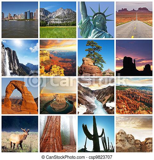 amerikanische , landschaften - csp9823707