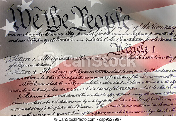 amerikansk flagga - csp9527997