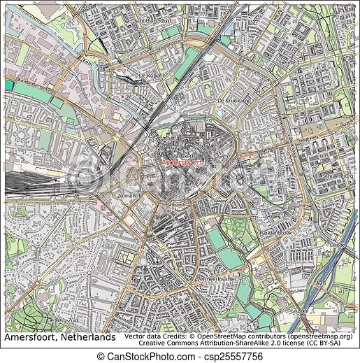 Amersfoort netherlands city map aerial view clipart vector Search