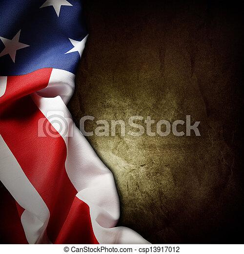 amerykańska bandera - csp13917012