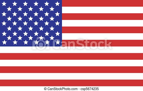 amerykańska bandera - csp5674235