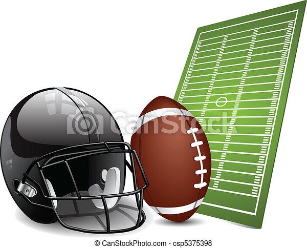 amerykańska piłka nożna, zaprojektujcie elementy - csp5375398