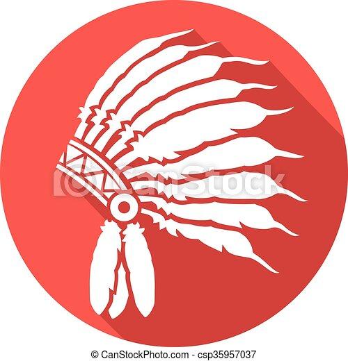 amerykański indianin, szef, krajowiec - csp35957037