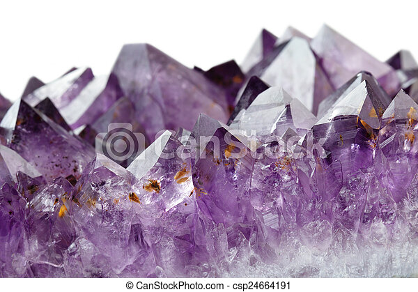 amethyst crystals - csp24664191