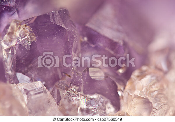 Amethyst is violet variety of quartz often used in jewelry - csp27560549