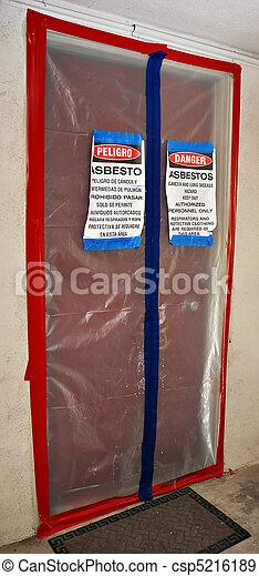 amianto, riduzione, segni - csp5216189