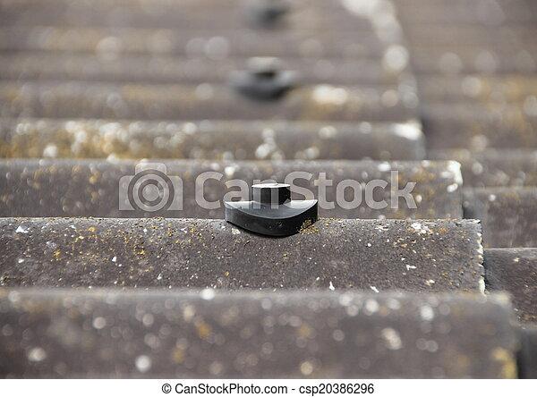 amianto, vite, protezione, stallone, tetto - csp20386296