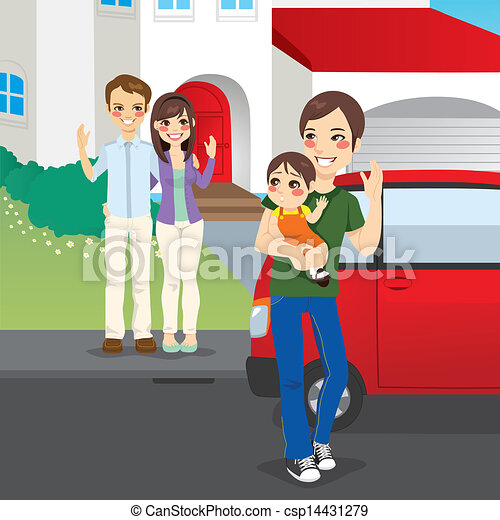Amicably Divorced Family - csp14431279