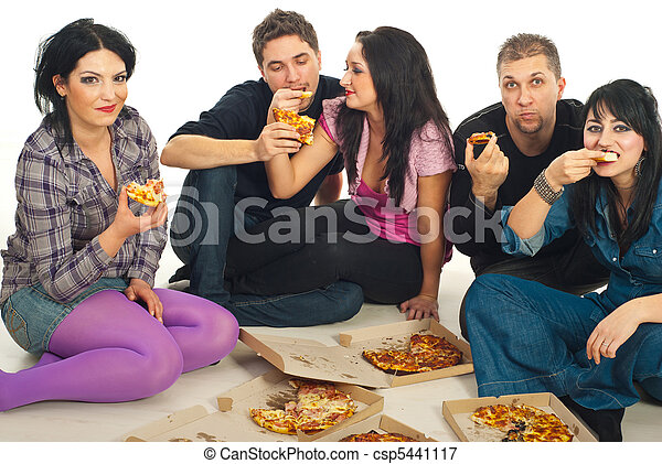 amici, consumo pizza - csp5441117