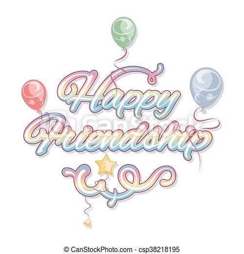 amicizia, giorno, felice - csp38218195