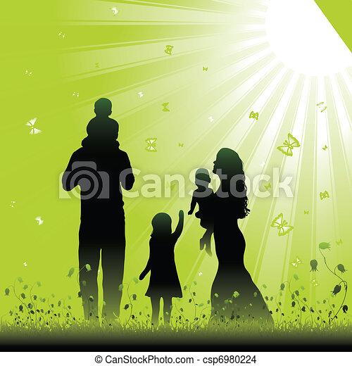 amigável, família - csp6980224