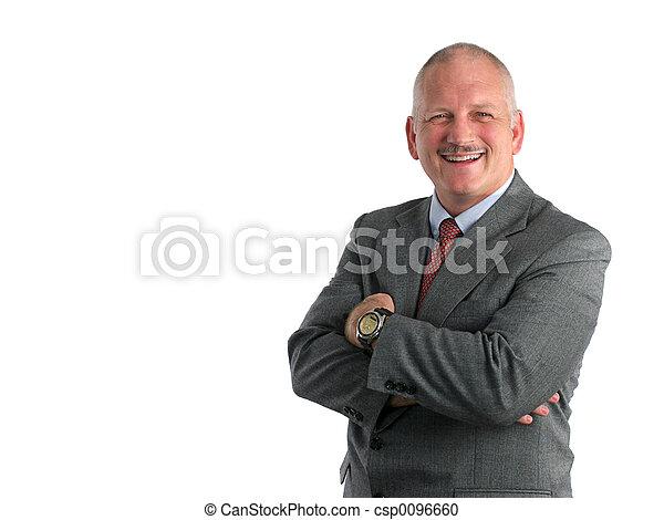 amigável, homem negócio - csp0096660