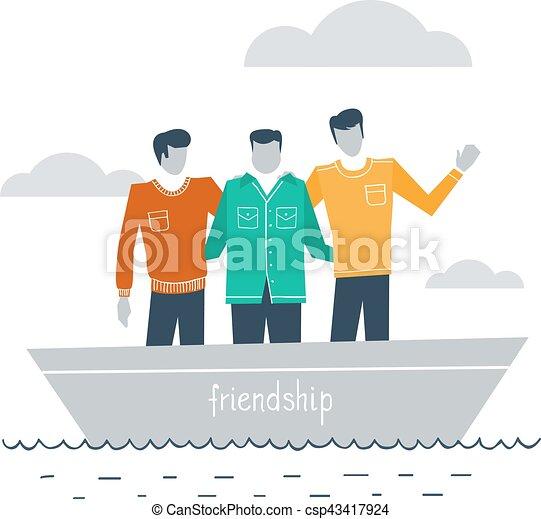 Amigos íntimos juntos - csp43417924