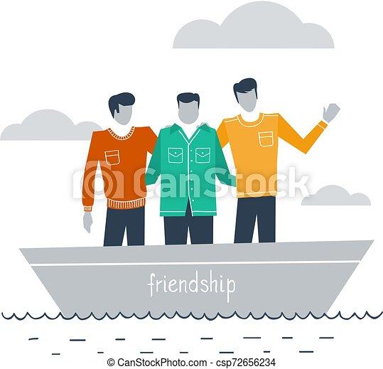 Amigos íntimos juntos - csp72656234