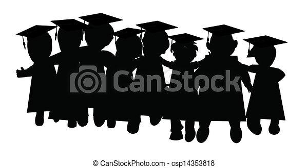 Clase de graduación de amigos - csp14353818
