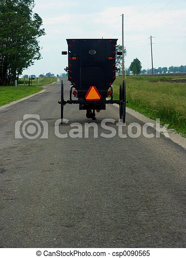 Amish Cart - csp0090565