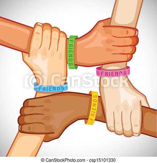 Feliz día de la amistad - csp15101330
