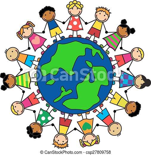 La amistad de los pueblos - csp27809758