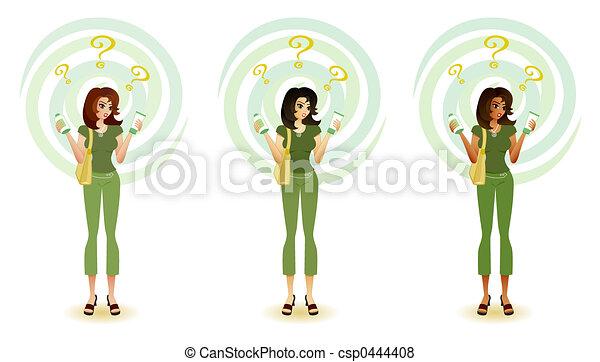Vendedor ecológico - csp0444408