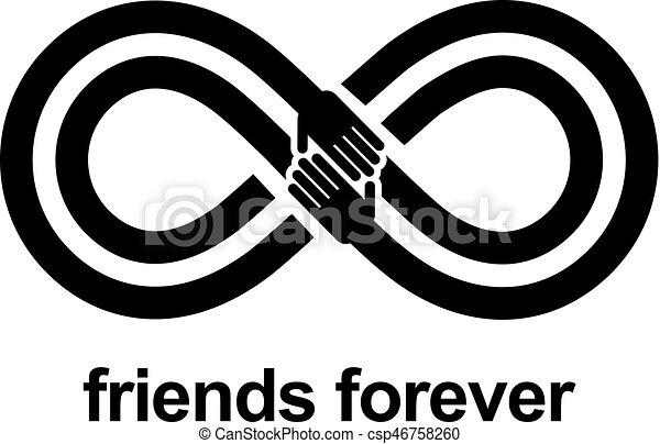 Favorit Clipart vecteur de amitié, symbole, toujours, isolé, arrière-plan  RP38
