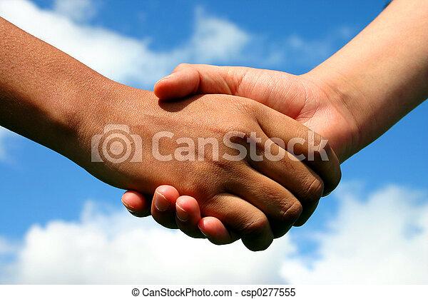 amitié, mains - csp0277555
