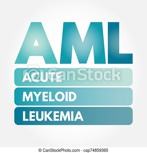 AML - Acute Myeloid Leukemia acronym - csp74859365