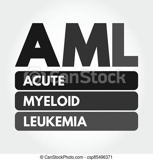 AML - Acute Myeloid Leukemia acronym concept - csp85496371