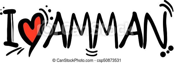 AMMAN love message - csp50873531