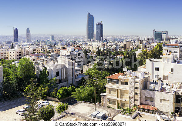 7b8646c4a176 Amman skyline. Amman city view