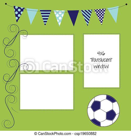 Fussball Oder Fussball Layout Mit Ball Und Banner Oder