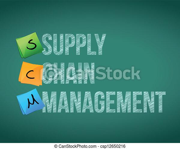 amministrazione, concetto, catena, illustrazione, fornitura - csp12650216