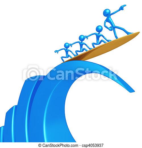 amministrazione, rischio, surfing - csp4053937