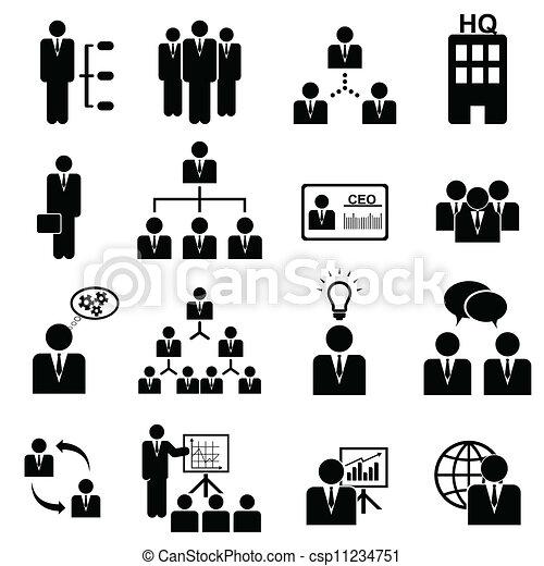 amministrazione, set, icona - csp11234751