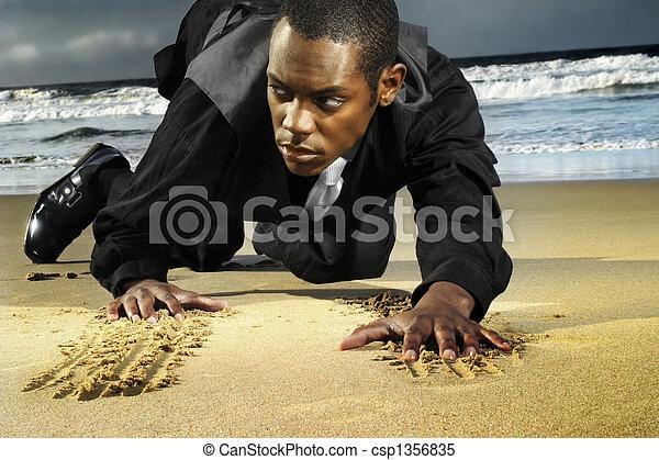 amn, tengerpart, fiatal, csúszó - csp1356835